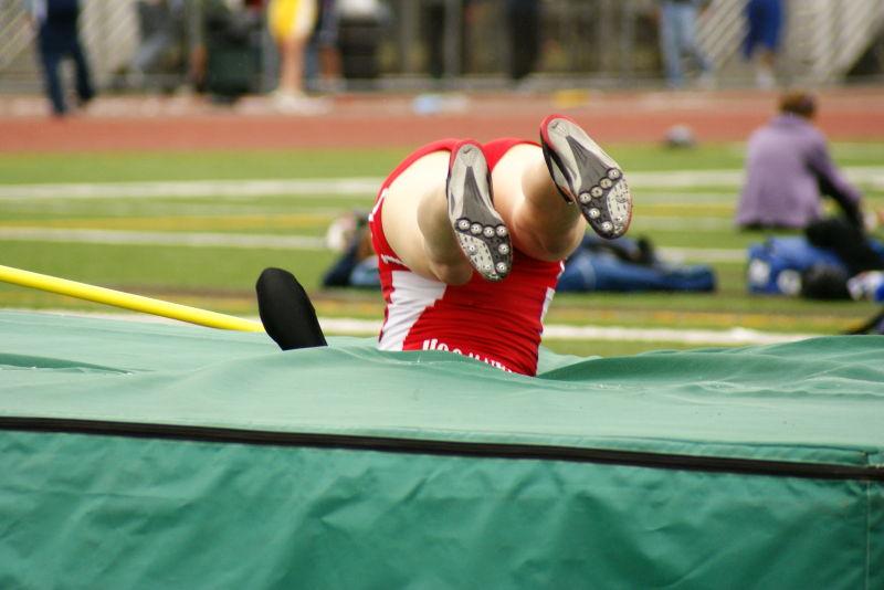 high jump landing