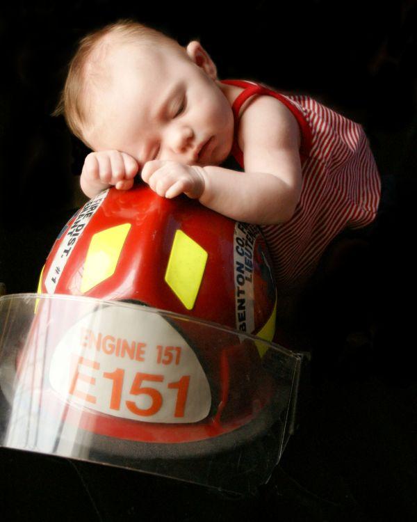 Leah - little firefighter
