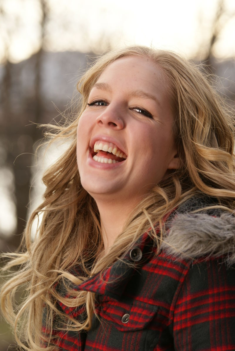 laughing model