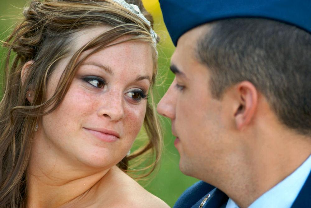 bride's look of love