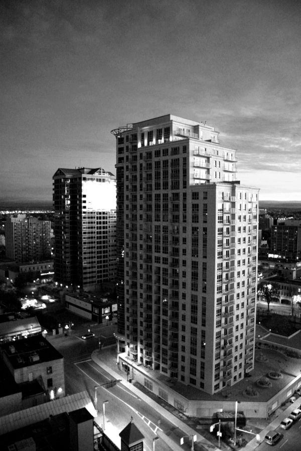 sunrise on buildings
