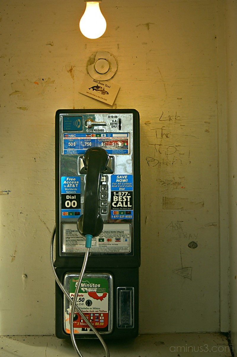 dying American  icon phone booth