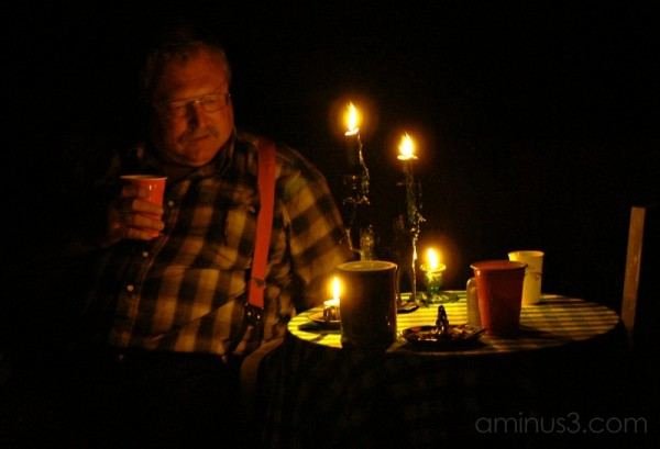 Candlelight portrait