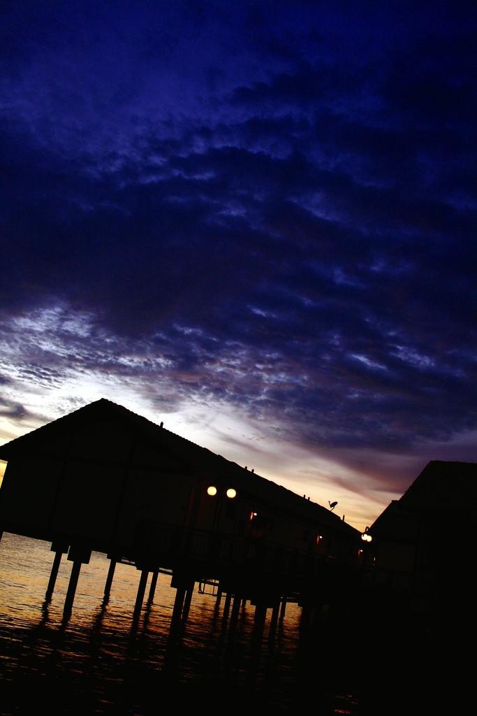 stilts and sunset