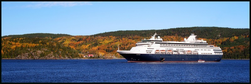 Cruise ship in La Baie, QC