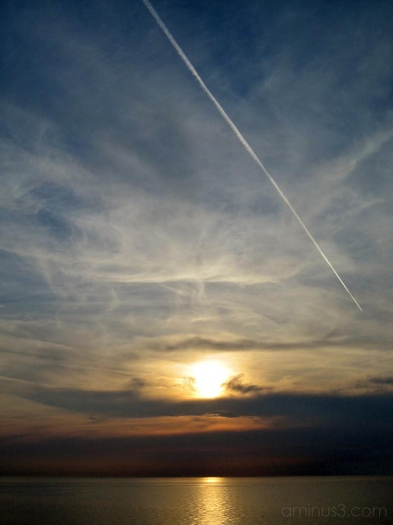 greece, sunset