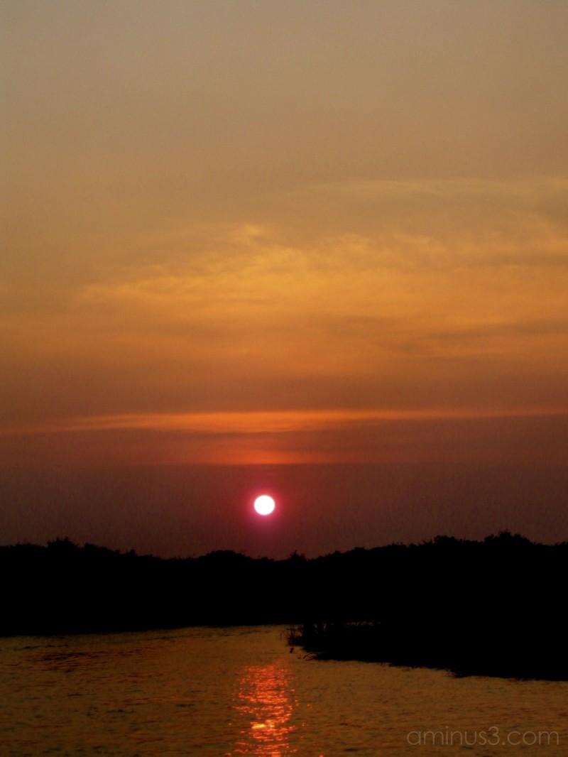 Cambodia, sunset