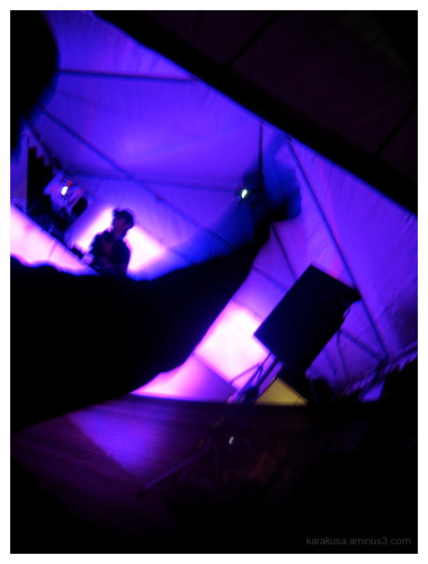 dancing in the flashing light