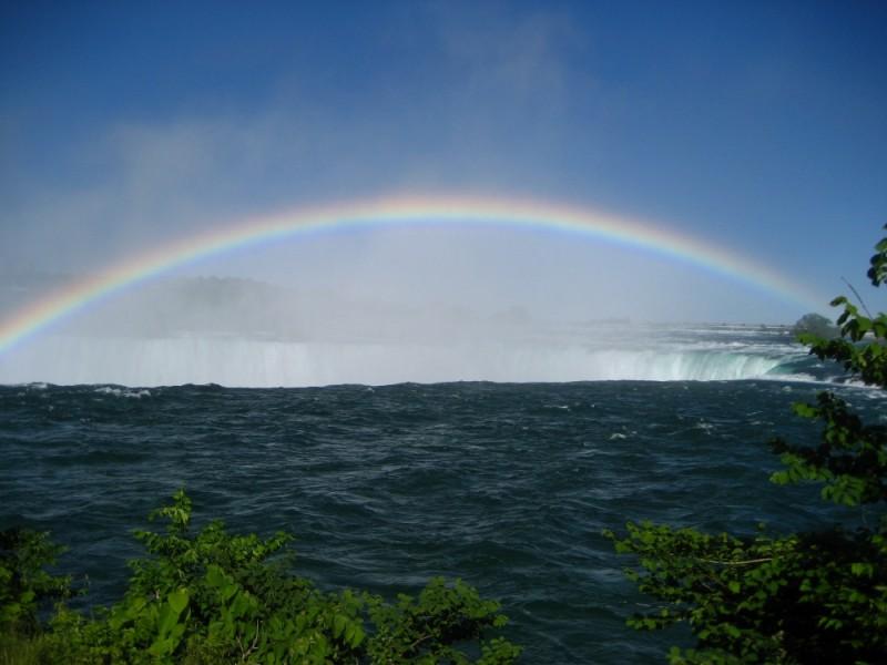 Rainbow accross The Falls