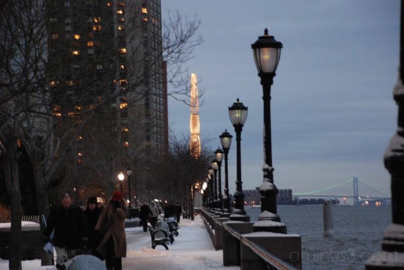 winter new york hudson river