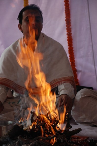 sacred fire indian wedding