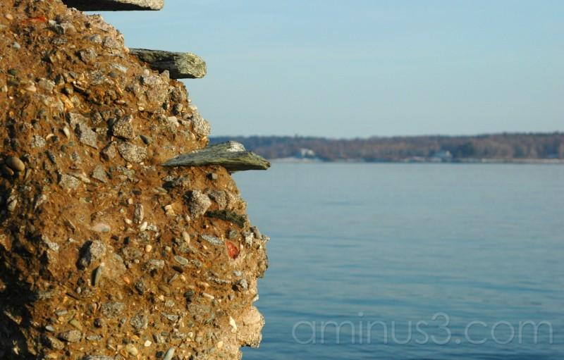 Steps on a ledge