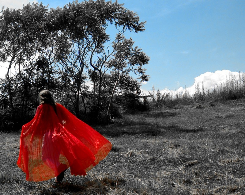 Red caped man