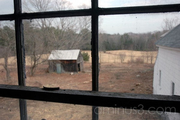 Window on the barnyard