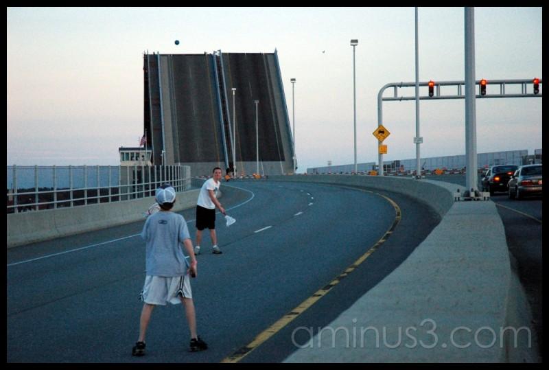 Lacrosse on the drawbridge
