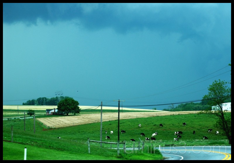 Storm over Pennsylvania fields