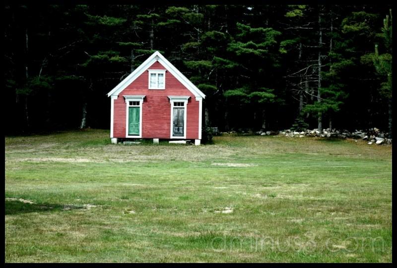 House with green door
