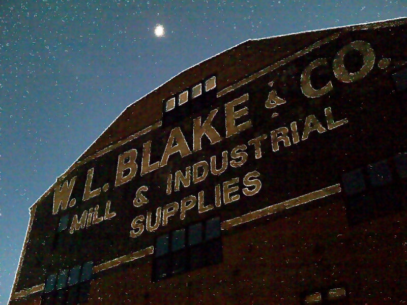 Moon over WL Blake & Co.