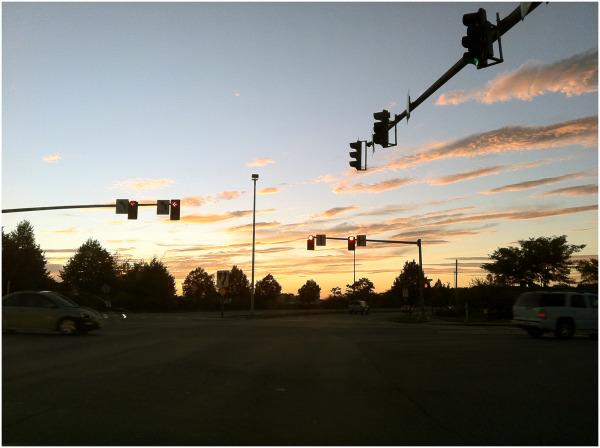 Sunset over Portland, Maine