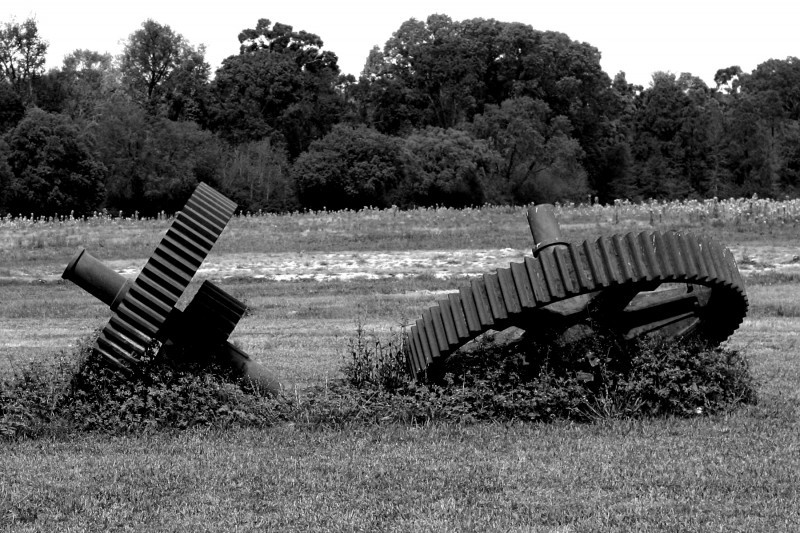 giant gears at LSU Rural Life Museum