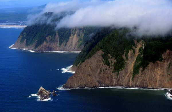 Over the coast in Oregon
