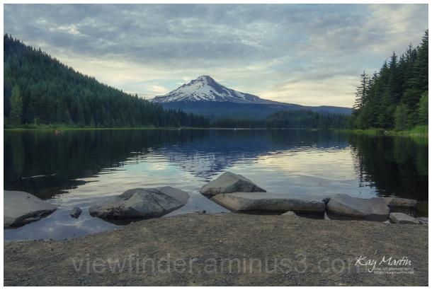 Mt Hood, Oregon, at Dusk