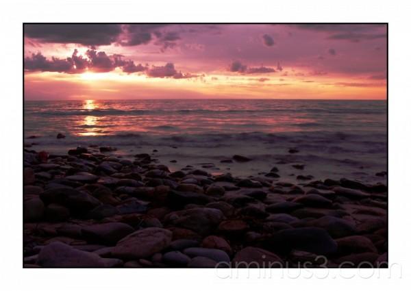 Sunset at Marino Rocks, Adelaide.