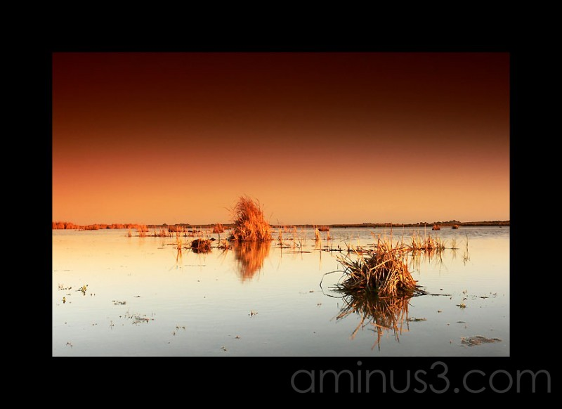 Sunset on Lake Alexandrina