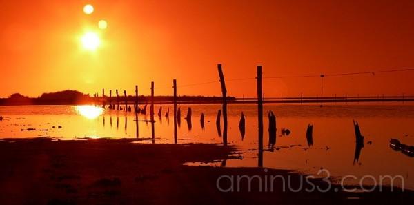 Sunrise over Lake Alexandrina