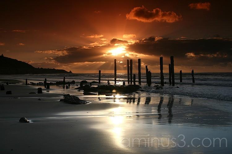 Pt Willunga jetty in South Australia at sunset