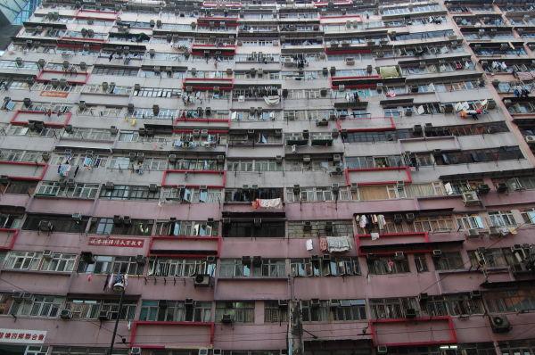 An apartment building in Hong Kong