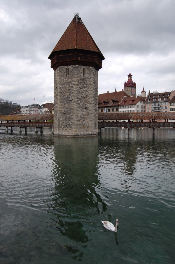 Luzern's trademark bridge