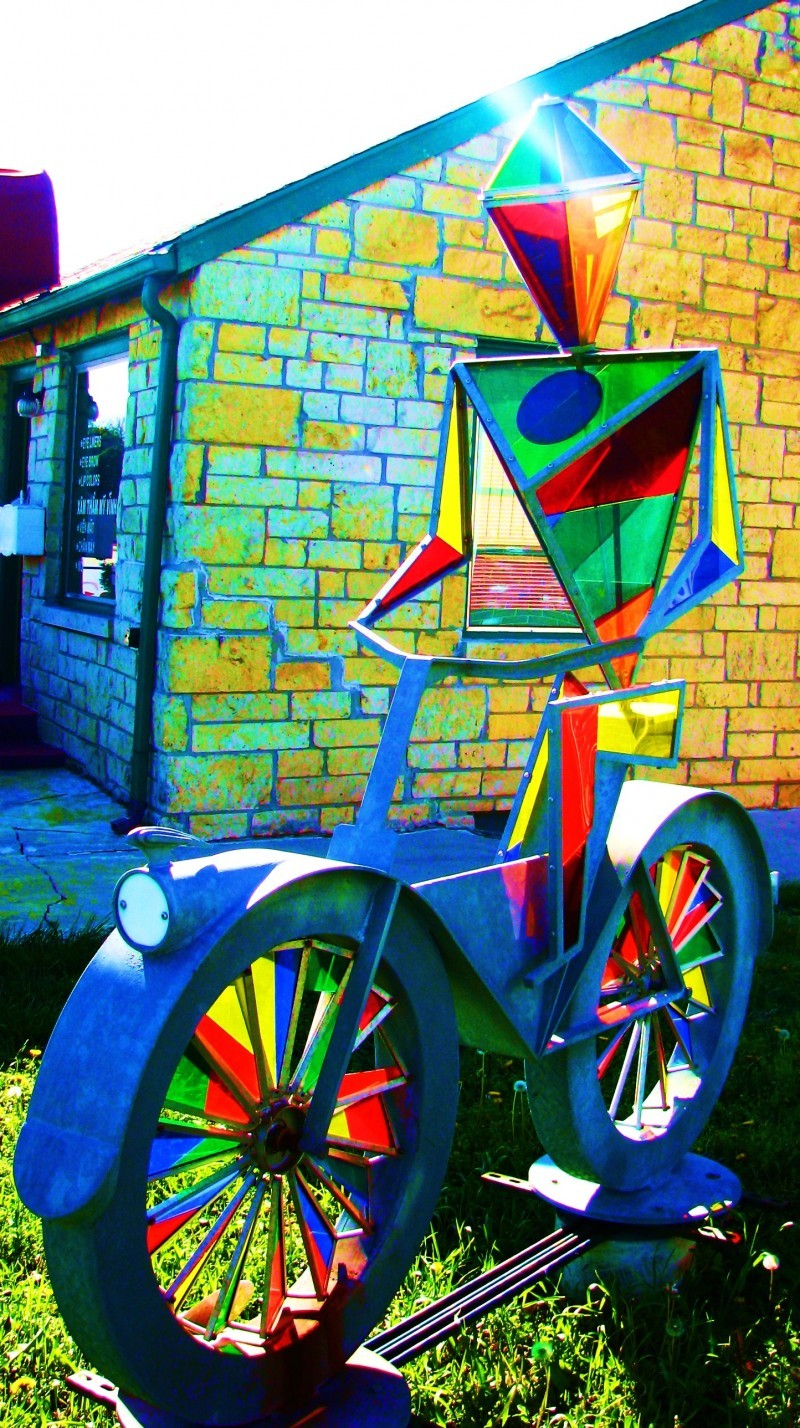 bike art around Lincoln