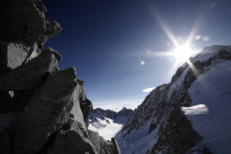 Chamonix-Mont-Blanc Valley Serie : Frozen rocks