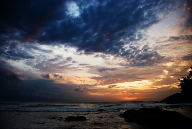 sunset at phuket, thailand.