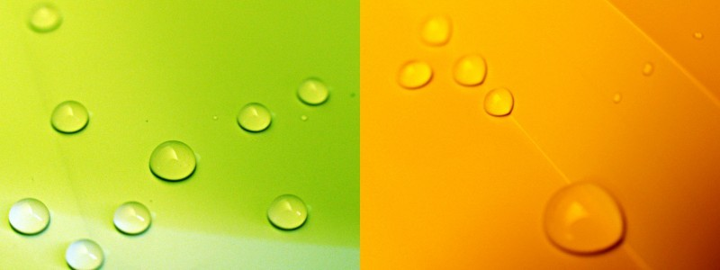 colorful droplets