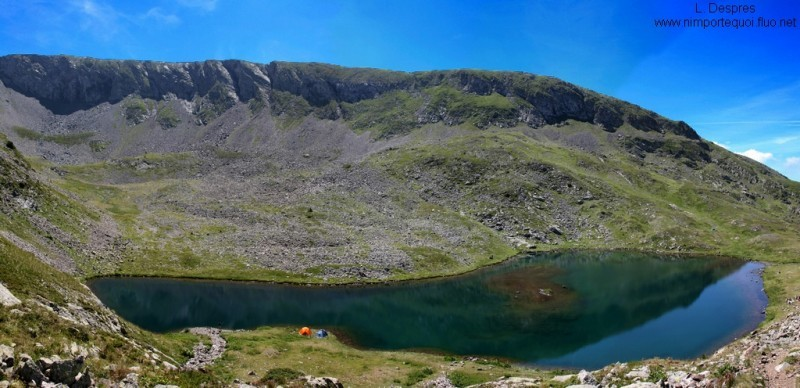 panorama,Lac Brouffier, 2115 m, near Taillefer