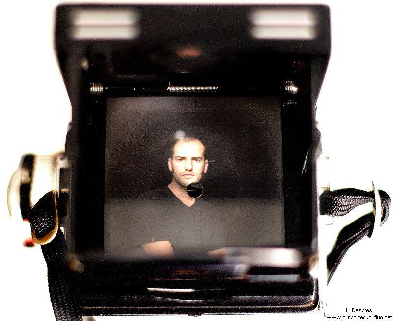 inside rolleiflex, louis despres, portrait