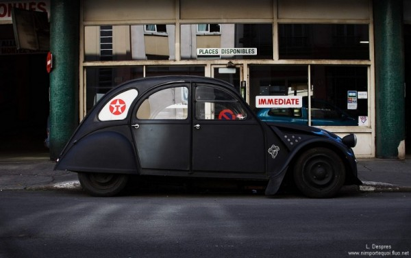 2 cv citroen, lyon, black, louis despres