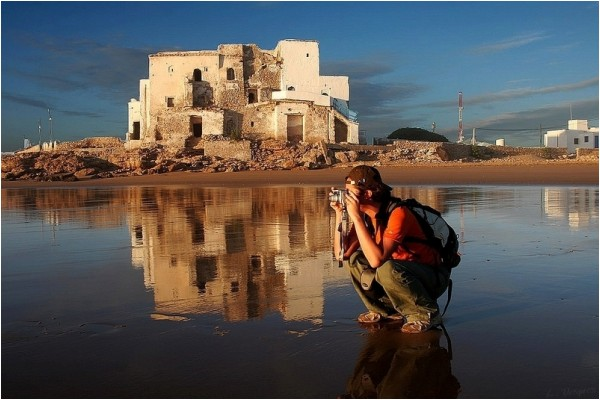 Picturing the sunset in Essaouira