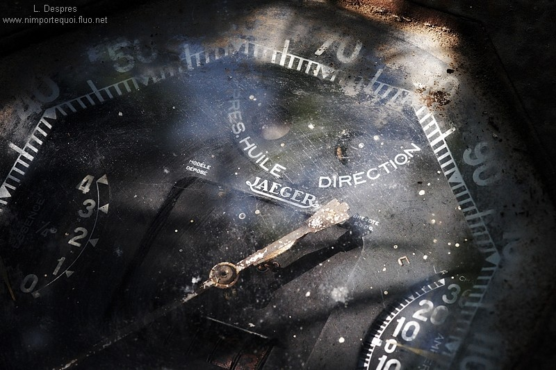 Old French van car speedometer