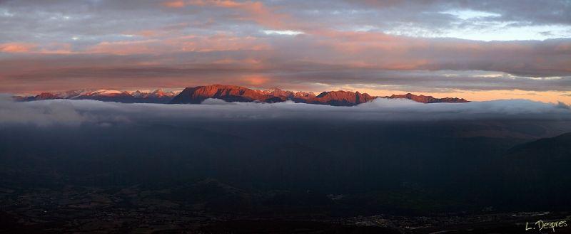 sunset mountain grenoble