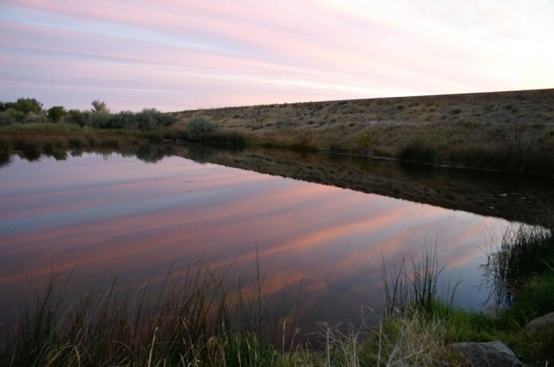 sunrise reflection