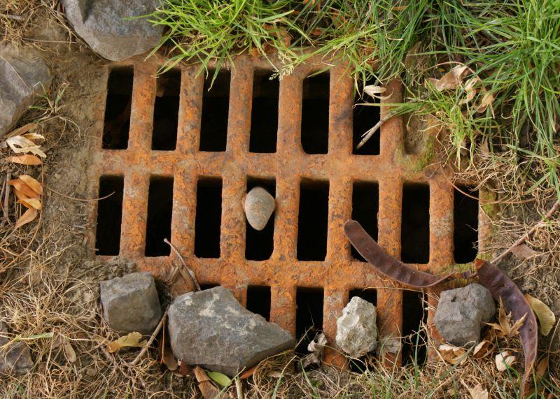 rusty drain
