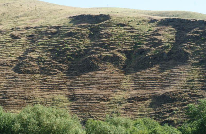 """grated"" hillside"