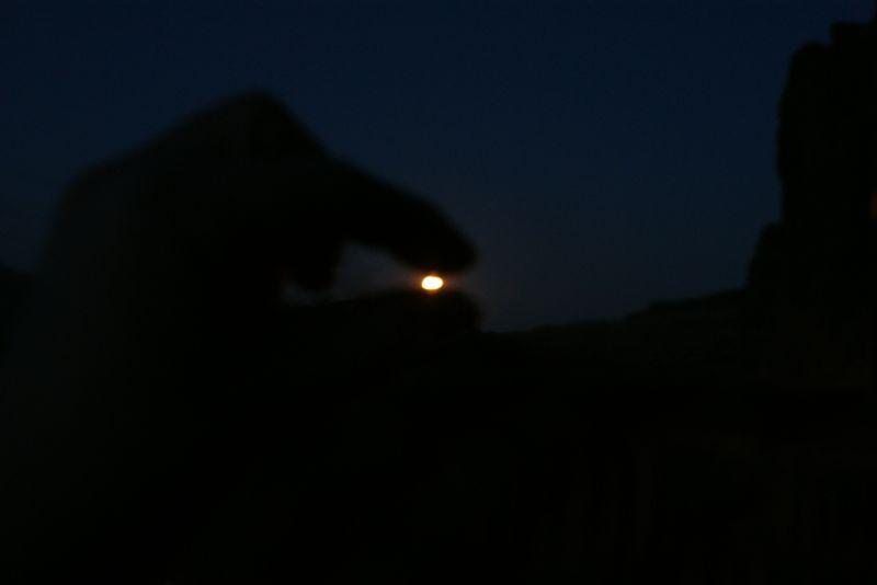 pinching the moon