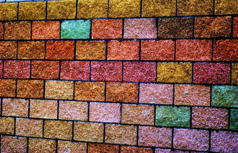 the crayola crayon brick wall