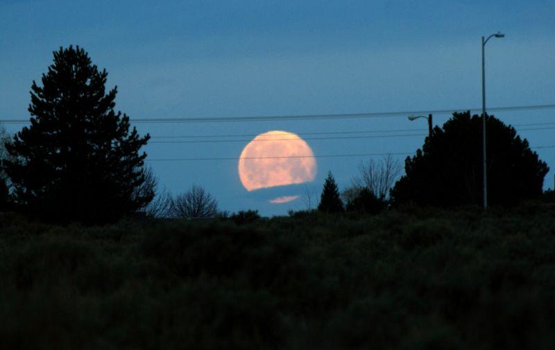 the setting moon