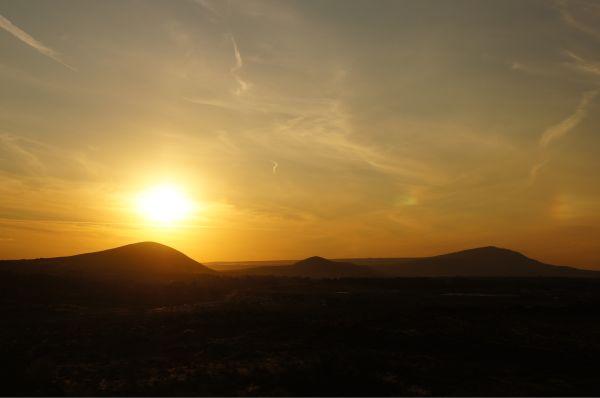 three mountain sunset