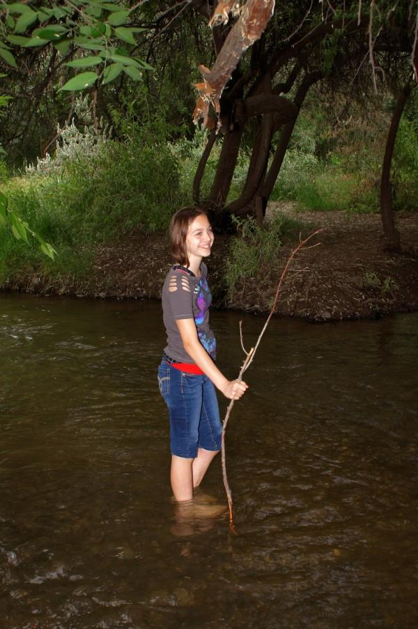 hiking through the river